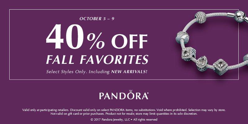 PANDORA Fall Favorites - 40% Off