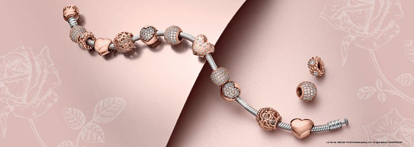 d8f964395 PANDORA Rose Charms, Blush Jewelry | PANDORA® Mall of America