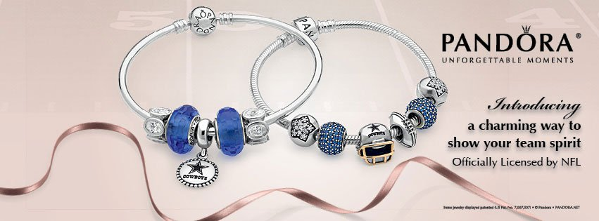 Officially Licensed Dallas Cowboys Charms from PANDORA