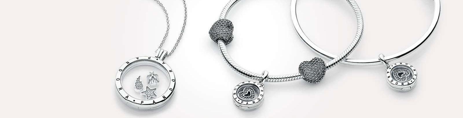 pandora locket and charms