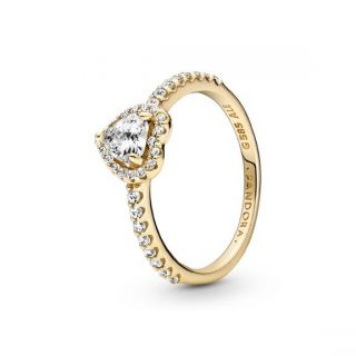 Elevated Heart Ring - 14k
