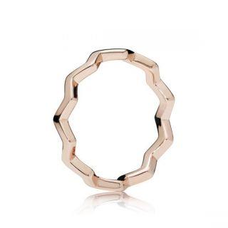 Timeless Zigzag Ring - PANDORA Rose