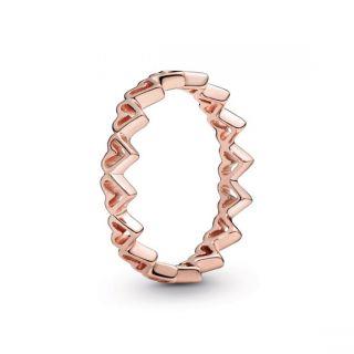 Freehand Hearts Ring - Pandora Rose