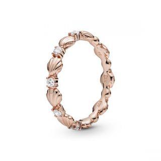 Sparkling Seashell Band Ring - Pandora Rose