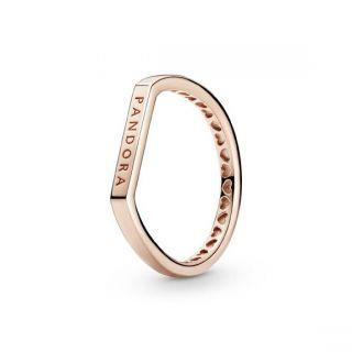 Logo Bar Stacking Ring - Pandora Rose