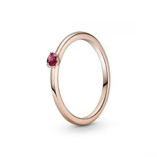 Red Solitaire Ring - Pandora Rose