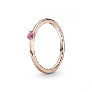 Pink Solitaire Ring - Pandora Rose