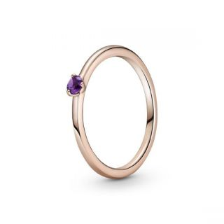 Purple Solitaire Ring - Pandora Rose