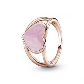Pink Swirl Heart Statement Ring - Pandora Rose