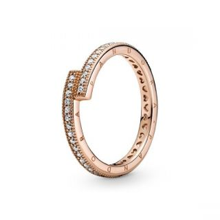 Sparkling Overlapping Ring - Pandora Rose