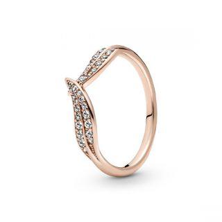 Sparkling Leaves Ring - Pandora Rose