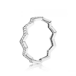 Shimmering Zigzag Ring