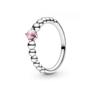 Petal Pink Beaded Ring