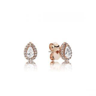 Radiant Teardrops Earrings - PANDORA Rose