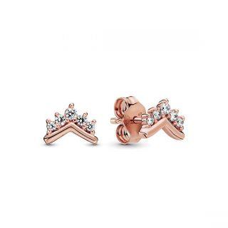 Tiara Wishbone Stud Earrings - Pandora Rose