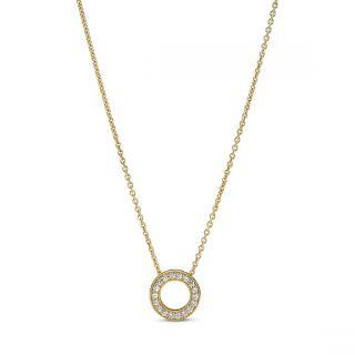 Pandora Logo Pave Circle Collier Necklace