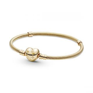 14k Heart Clasp Bracelet