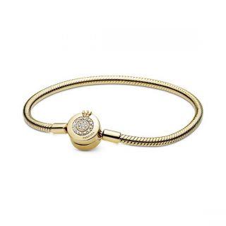 Sparkling Crown O Snake Chain Bracelet - Pandora Shine