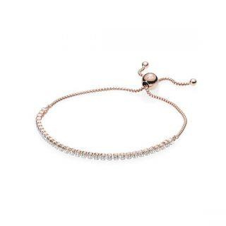 Sparkling Strand Bracelet - PANDORA Rose
