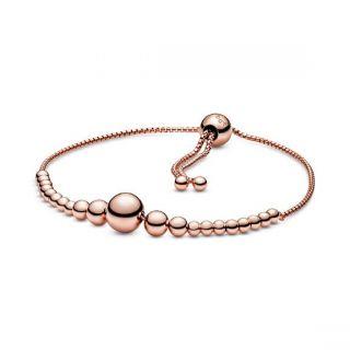 String of Beads Slider Bracelet - Pandora Rose