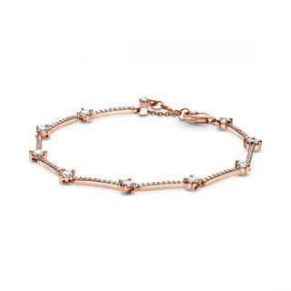 Sparkling Pave Bars Bracelet - Pandora Rose