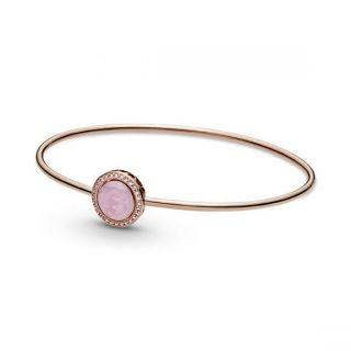 Pink Swirl Bangle - Pandora Rose