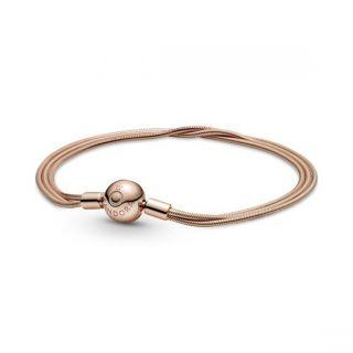 Multi Snake Chain Bracelet - Pandora Rose