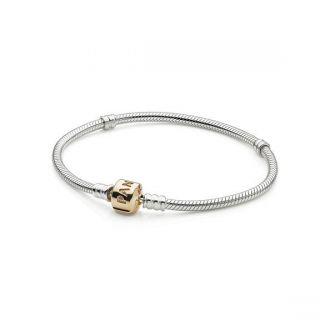 PANDORA Sterling Silver Bracelet with 14k Gold Clasp