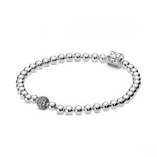Beads & Pave Bracelet