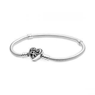Family Tree Heart Clasp Bracelet