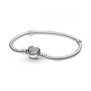 Disney, Mickey Mouse Heart Clasp Bracelet