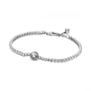 Sparkling Halo Tennis Bracelet