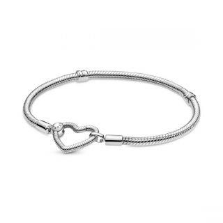 Heart Closure Snake Chain Bracelet