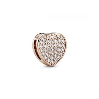 Pave Heart Clip - Pandora Rose