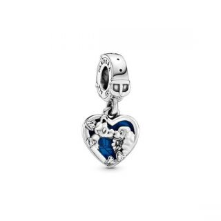 Disney, Lady and the Tramp Heart Dangle Charm