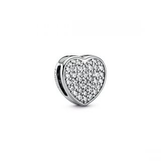 Reflexions Pave Heart Clip