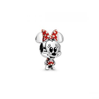 Minnie Mouse Dotted Dress & Bow Charm