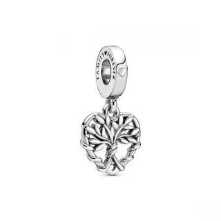 Heart Family Tree Dangle Charm