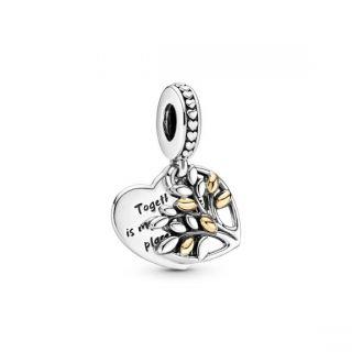 Family Tree Heart Dangle Charm