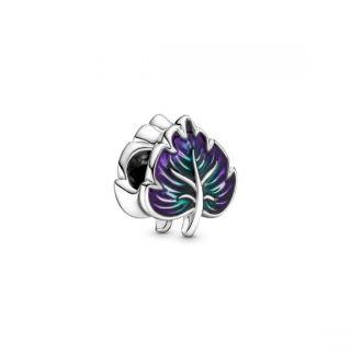 Purple & Green Leaf Charm