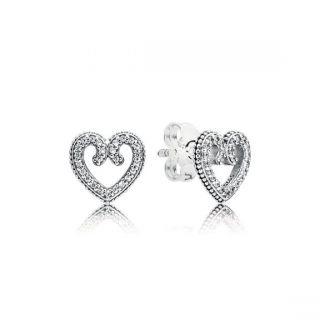 Heart Swirls Stud Earrings