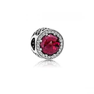 Radiant Hearts Charm - Red