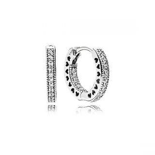 Hearts of PANDORA Hoop Earrings, 15MM
