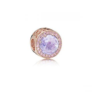 Lavender Radiant Hearts Charm - PANDORA Rose™
