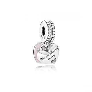Mother & Daughter Hearts Charm