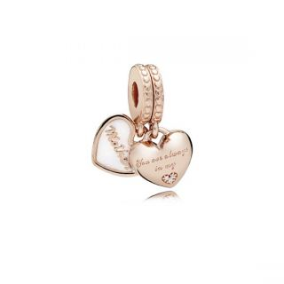 Mother & Daughter Hearts Charm - PANDORA Rose™