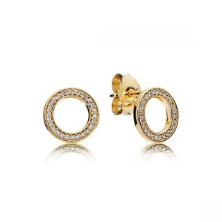 PANDORA Forever Stud Earrings - PANDORA Shine