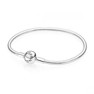 PANDORA Smooth Silver Round Clasp Bracelet