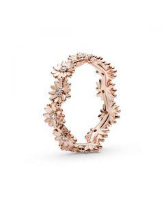Sparkling Daisy Flower Crown Ring - Pandora Rose