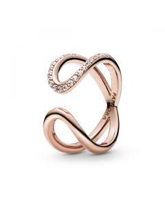 Wrapped Open Infinity Ring - PANDORA Rose